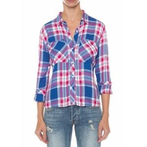 Rails 'Dylan' Long Sleeve Button Down Plaid Top